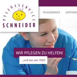 Internetauftritt Pflegeservice
