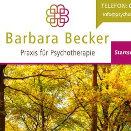 Logo und Website Psychotherapie Becker
