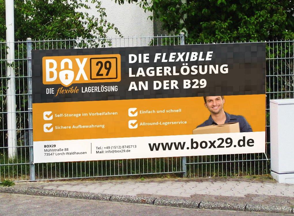 Bauzaun-Werbung Self-Storage