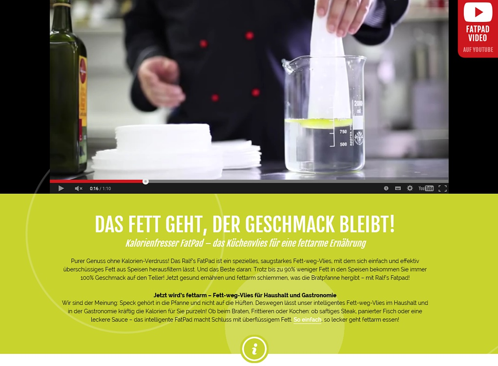 Relaunch Internetseite Ralfs FatPad